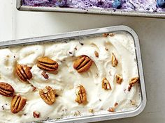 Try a small twist on classic Butter-Pecan Ice Cream by adding a couple tablespoons of bourbon.