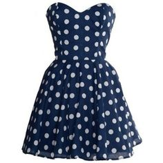 #blue #dots #dress