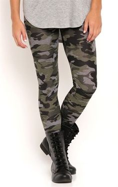 Deb Shops Camo Print #Leggings $10.00
