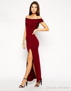 Tight off the shoulder red dress