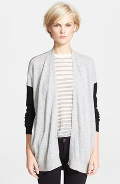 Vince Colorblock Drape Cardigan available at #Nordstrom