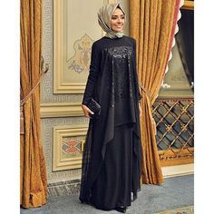decor, design, and hijab tutorial image Abaya Fashion, Modest Fashion, Fashion Dresses, Muslim Women Fashion, Islamic Fashion, Modest Dresses, Modest Outfits, Moslem Fashion, Hijab Dress Party