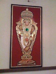 Outline Drawings, Art Drawings, Lord Balaji, Tanjore Painting, Buddhist Art, Traditional Paintings, Paint Designs, Indian Art, Painting Inspiration