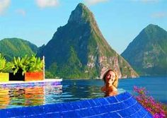 A pool with a view in St Lucia