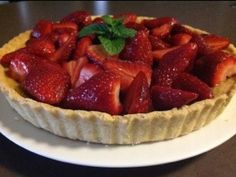 Strawberry Mascapone Tart I Foods, Tart, Waffles, Main Dishes, Strawberry, Appetizers, Cooking, Breakfast, Desserts