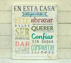 Cuadro pa cocina Beautiful Words, Hand Lettering, Decoupage, Diy And Crafts, Sweet Home, Ideas Para, Room Decor, Projects To Try, Wood Projects