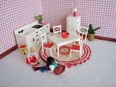 Vintage Dollhouse Furniture  RENWAL Kitchen Set in by TheToyBox