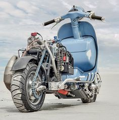 Vespa PX with engine WR 360 Husqvarna The amount of work that went into this phenomenal Vespa custom project is obvious! One of our ...