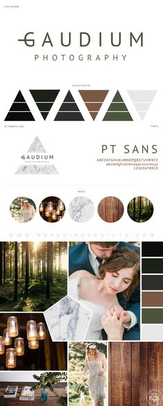 Mystical Romance Forest Branding. Adventure Wedding. Feminine. Green Logo with Marble Texture.  Fixer Upper. Industrial. Professional Business Branding by Designer Laine Napoli. Web Design, Logo, Mood Board, Brand Boards, and more.