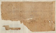 Fragment of the mummy shroud of Thutmose III. Egyptian, New Kingdom, 18th Dynasty, reign of Thutmose III, 1479-1425 B.C.