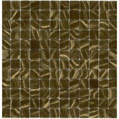 Elida Ceramica�Recycled Golden Ore Glass Mosaic Square Indoor/Outdoor Wall Tile (Common: 12-in x 12-in; Actual: 12.5-in x 12.5-in)