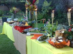 Luau in Pasadena; this was loads of fun to do.