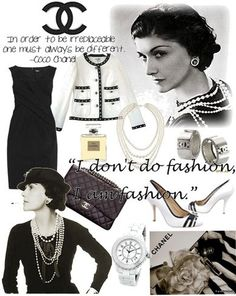 Coco Chanel style board || #vintage_style #Coco_Chanel #fashion #inspiration #icon