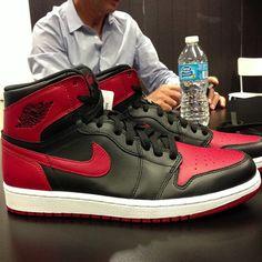 #AirJordan 1 Black/Red 2013
