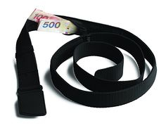 Pacsafe Cashsafe Anti-Theft Travel Belt Wallet, Black