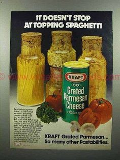 Image result for parmesan cheese 1980's
