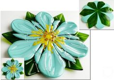 """Repina Elena. Glass dish for the holiday table """"Flower"""" fusing"""