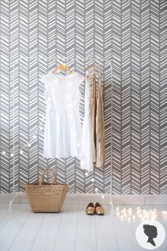 Self Adhesive Herringbone Pattern Removable Wallpaper D197 by Livettes on Etsy https://www.etsy.com/listing/179196641/self-adhesive-herringbone-pattern