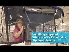 Installing Zippered Window with Removable Zippered Screen - YouTube