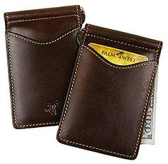 3b0548eced3c1 Palm West 225RFID-A Men s Leather Money Clip Wallet