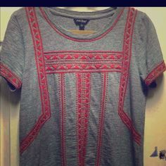 Embroidered Lucky Brand top BRAND NEW!! Worn once.  Just doesn't fit me right. Beautiful top!! Lucky Brand Tops Blouses