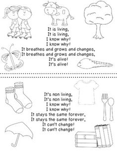 I like this poem because it shows the idea of using different mediums to teach content. It reminds me on the current even raps that we listened to in class. Because of the rhyme scheme, and the fun nature of this tool, that content that the poem demonstra Kindergarten Songs, Preschool Songs, Preschool Science, Science Classroom, Teaching Science, Science Activities, Science Ideas, First Grade Science, Primary Science