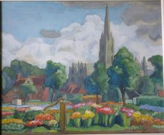 Picture Salisbury Cathedral, Painting, Art, Art Background, Painting Art, Kunst, Paintings, Performing Arts, Painted Canvas