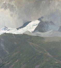 Ernesto Schiess Matterhorn im Nebel, 1908 Mountains, Nature, Travel, Art, Switzerland, Painting Art, Art Background, Naturaleza, Viajes