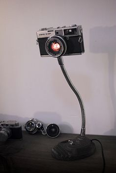 Handmade camera lamp by Qwj Qin
