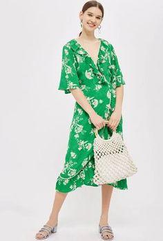 green wrap dress - Google Search
