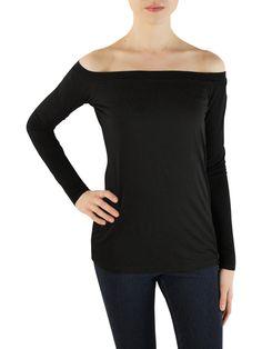 Splendid black off shoulder top