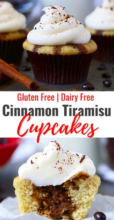 These easy to make cupcakes are super moist with just the perfect touch of chocolate cinnamon and coffee. Gluten Free Cupcakes, Gluten Free Muffins, Gluten Free Baking, Gluten Free Desserts, Healthy Desserts, Healthy Food, Cupcake Recipes, Cupcake Cakes, Dessert Recipes
