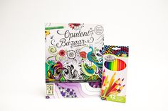 Enter for a chance to win one copy of Opulent Bazaar Adult Coloring Book and Colored Pencils. The deadline to enter is November 6, 2016 at 11:59:59 p.m.