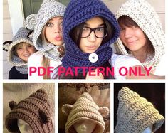 Pixie Hat PDF PATTERN ONLY 3 year to Adult by BeccasBeanies