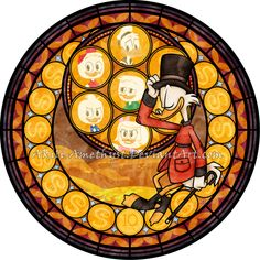 SG: Ducktales by Akili-Amethyst on DeviantArt Disney Xd, Disney And Dreamworks, Disney Cartoons, Disney Love, Disney Magic, Disney Birds, Disney Stained Glass, Orange Color Schemes, Disney Ducktales