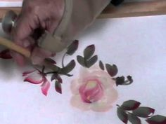 Roses - Chinese Brush  Painting demonstration by Jane Evans to her afternoon class