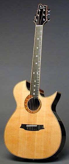 The double cutaway is a Doolin signature. Acoustic Music, Acoustic Guitars, Making Musical Instruments, Music Instruments, Resonator Guitar, Music Stuff, Ukulele, Mars, Wood