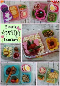 Spring lunch box ideas | packed in @EasyLunchboxes containers