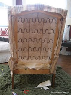 How to Reupholster a Wingback Chair: Part 1 (Picture Tutorial