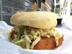 Mac N Food Truck - Miami, FL SOUTHERN FRIED TOFU BURGER