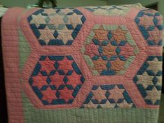 Gorgeous 1930s Seven Sisters Quilt Hand Quilted 8SPI Excellent Near Mint | eBay