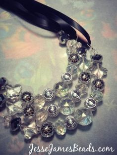 Jesse James Beads: How to Make a Beaded Statement Necklace by @Candie Cooper