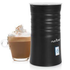 NutriChef Electric Milk Frother and Milk Warmer Black PKFMR11BK