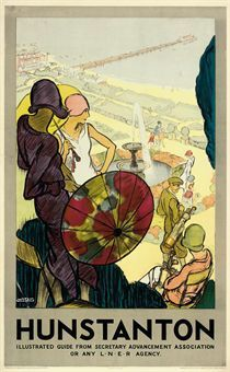 ENGLAND - NORFOLK - Hunstanton - Vintage Travel Poster Wilton Williams