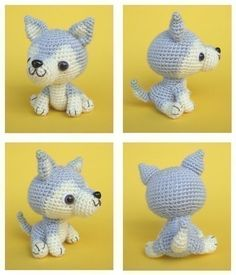 Siberian Husky Puppy - PDF Crochet Pattern. $5.00, via Etsy.