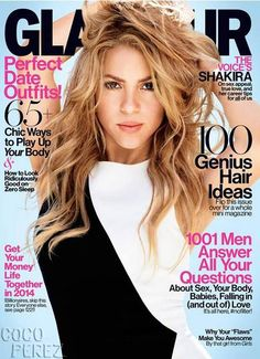 Shakira covers Glamour magazine's February issue, and oozes sex appeal!