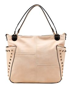 Love this Beige Mara Shoulder Bag by MKF Collection on #zulily! #zulilyfinds