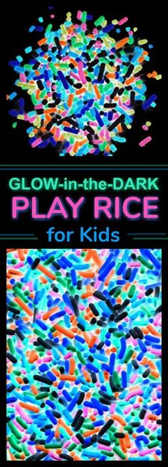 HOW COOL!!! And it's cheaper than play sand & less messy!! ((Glowing Neon Sand for kids))