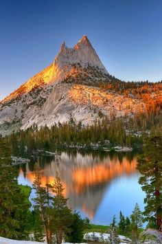 Cathedral Peak and Meadow at Cathedral Upper Lake Yosemite National Park Ca..... #Relax more with healing sounds: