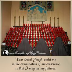 Dear Saint Joseph, assist me in the examination of my conscience so that I may see my failures. #DaughtersofMaryPress #DaughtersofMary #Catholic #ReligiousSisters #StJoseph #examinationofconscience #selfimprovement